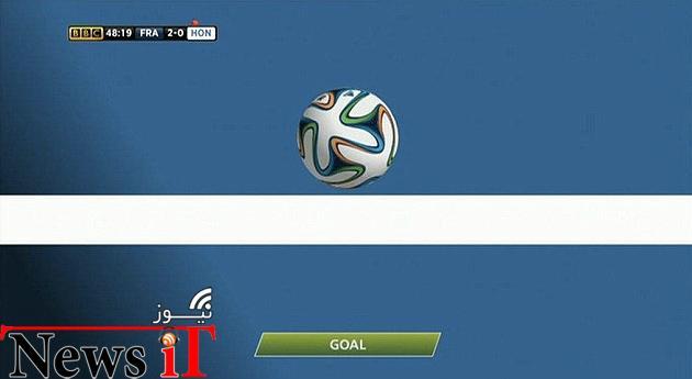 فرانسه اولین تیم فوتبال جام جهانی که از فناوری خط دروازه منفعت برد
