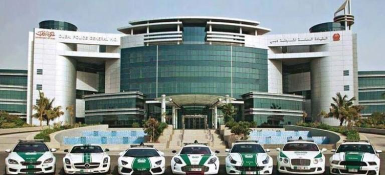 مانور سوپراسپورتهای پلیس دوبی در سطح شهر