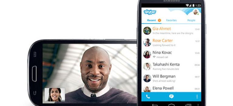 اندرویدی ها تاکنون بیش از ۵۰۰ میلیون بار اسکایپ را دانلود کردهاند