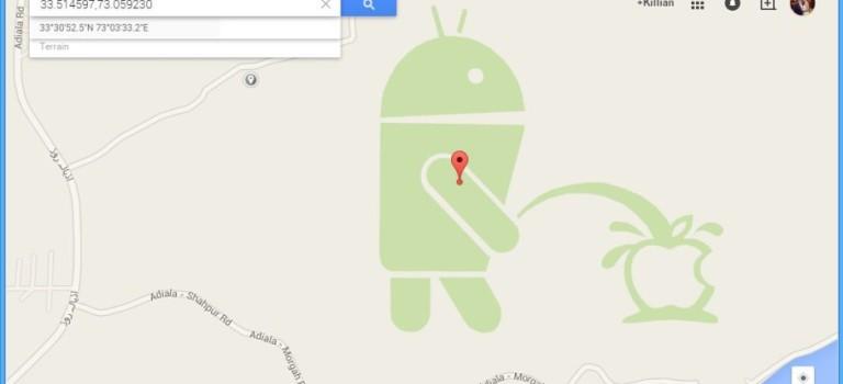 شوخی عجیب گوگل ؛ تحقیر اپل