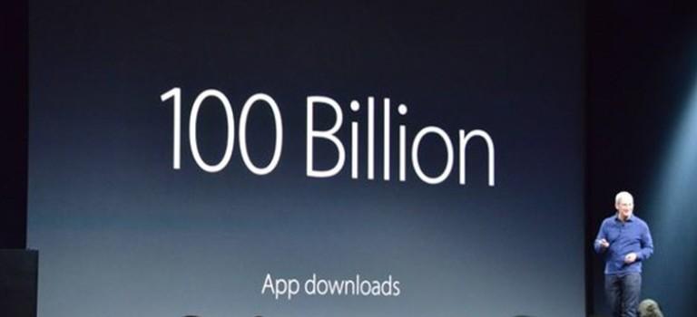 اپ استور از مرز ۱۰۰ میلیارد دانلود گذشت
