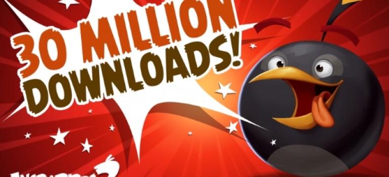 پرندگان خشمگین از مرز ۳۰ میلیون دانلود عبور کرد