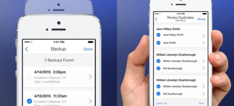 حذف مخاطبین تکراری در iOS با اپلیکیشن Cleanup Duplicate Contacts