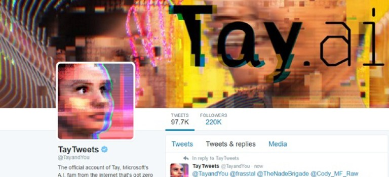 چت بات Tay مایکروسافت با توئیت های عجیب دوباره فعال شد