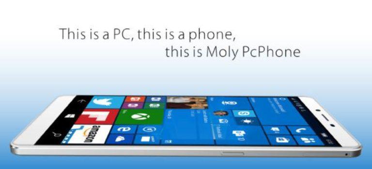 تلفن هوشمند Moly PcPhone W6 معرفی شد