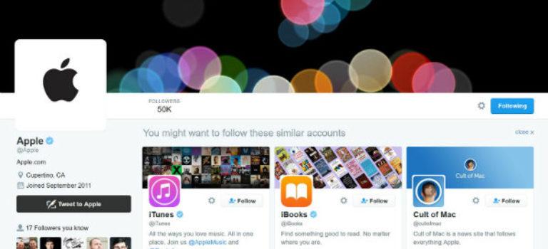 با نزدیک شدن به رویداد معرفی آیفون های جدید، اکانت اپل در توییتر شروع به کار کرد