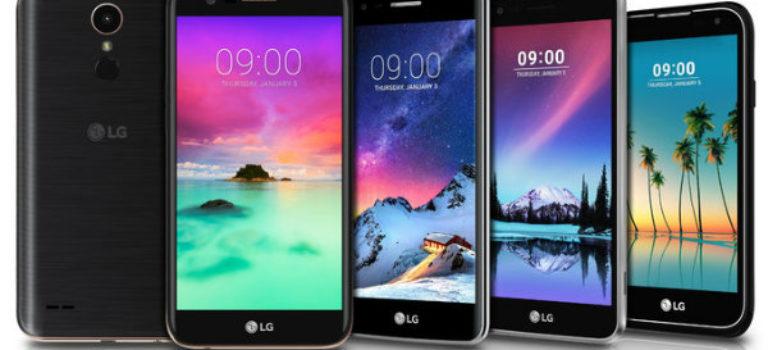 ال جی از ۵ تلفن همراه اندرویدی جدید رونمایی کرد