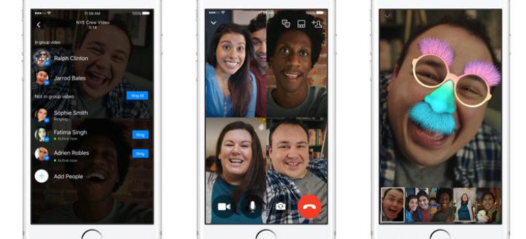 امکان برقراری تماس ویدیویی گروهی به فیسبوک مسنجر اضافه شد