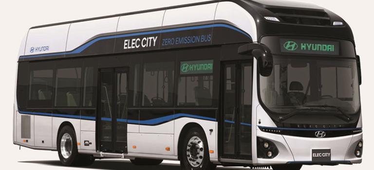 اولین اتوبوس الکتریکی هیوندای، آمادهی تولید شد
