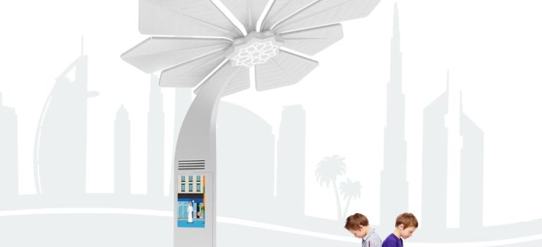 شارژ تلفن همراه و اینترنت رایگان با نخل هوشمند در دبی
