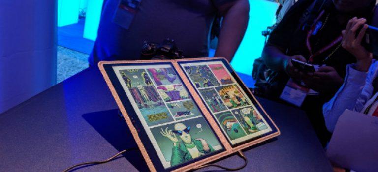 معرفی  لپ تاپ اینتل Twin River با دو صفحه نمایش و بدنه پارچه ای