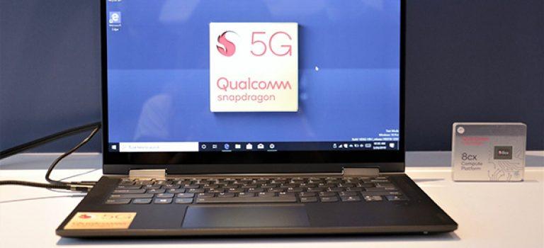 لنوو با همکاری کوالکام از نخستین لپتاپ ۵G دنیا رونمایی کرد